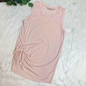 Athleta | Blush Tank Top Front Ruffle Medium